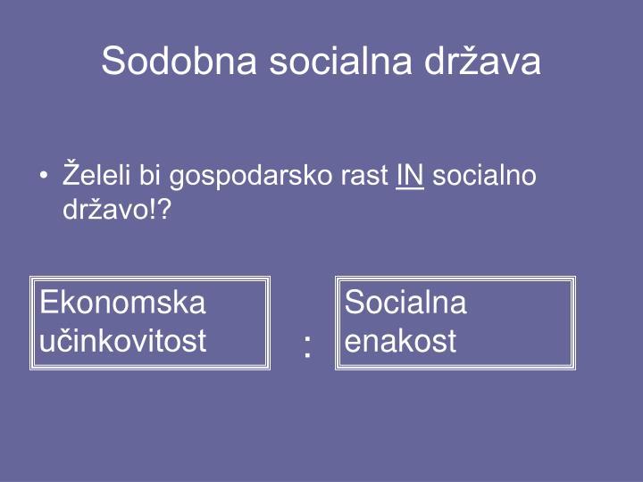 Sodobna socialna država