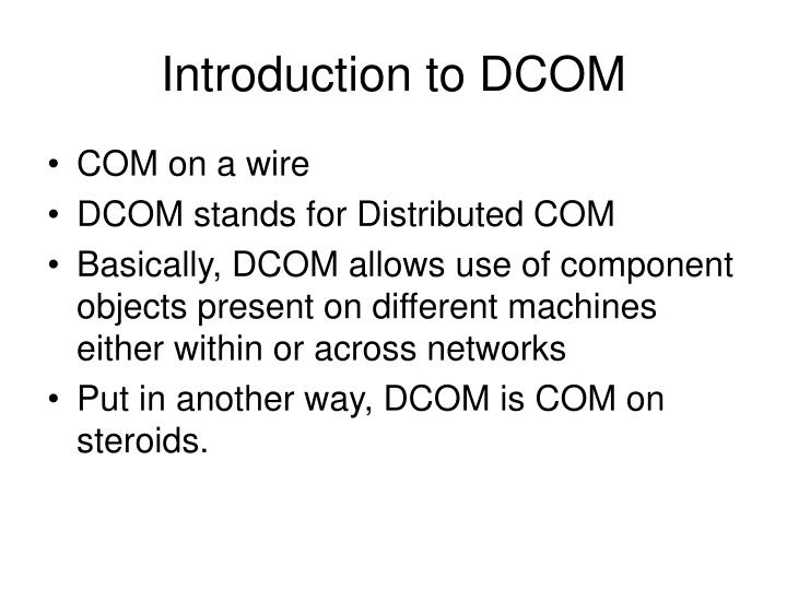 Introduction to DCOM