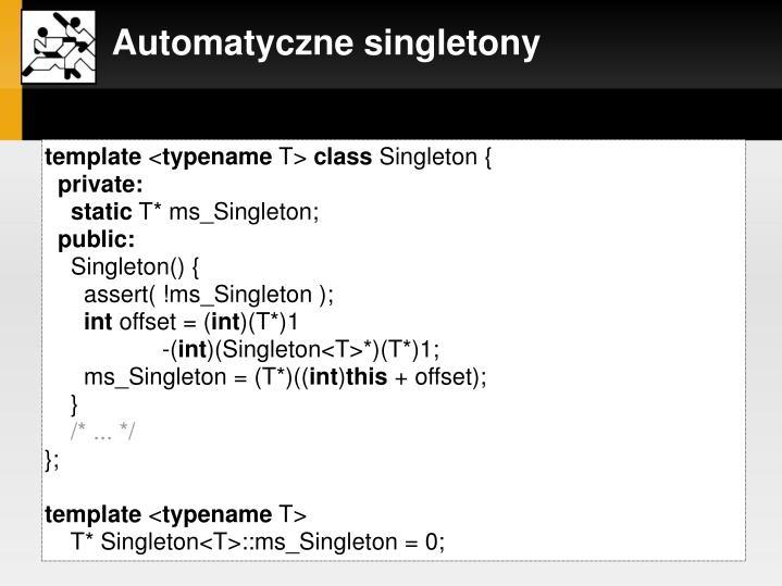 szablon klasy Singleton: