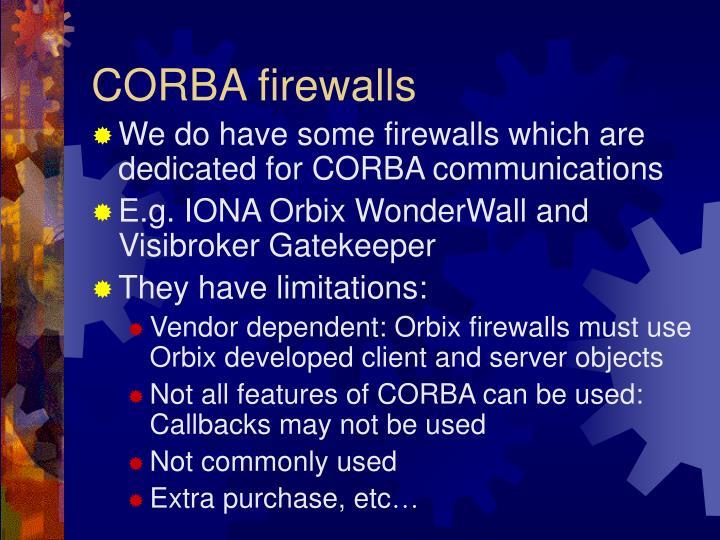 CORBA firewalls