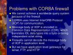 problems with corba firewall