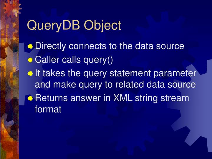 QueryDB Object