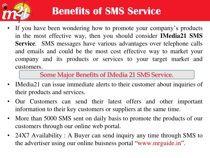Benefits of SMS Service