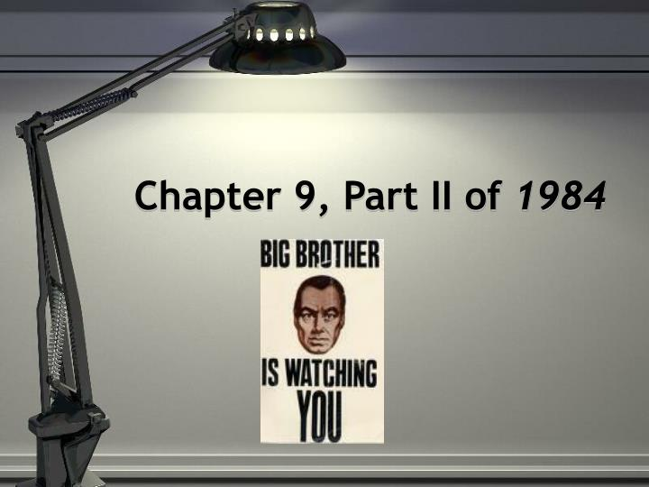Chapter 9, Part II of