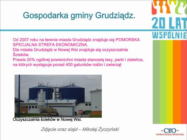 Gospodarka gminy Grudziądz.