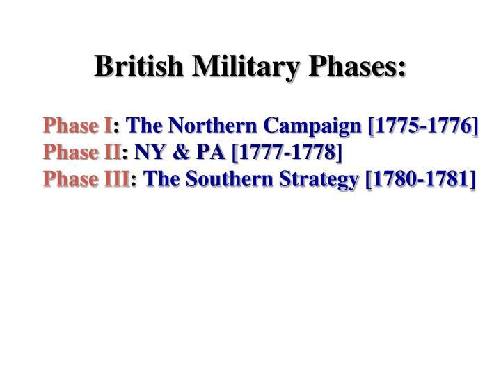 British Military Phases: