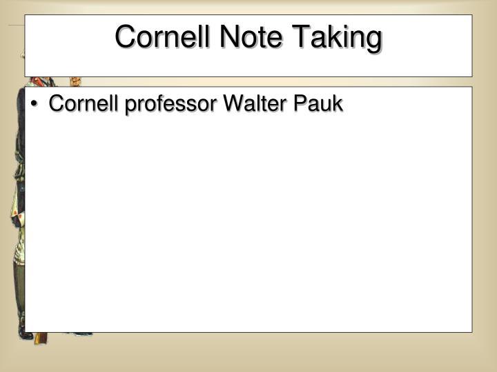 Cornell professor Walter Pauk
