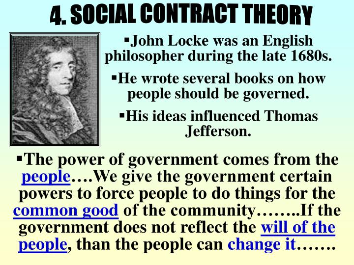 4. SOCIAL CONTRACT THEORY