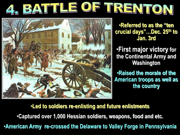 4. BATTLE OF TRENTON