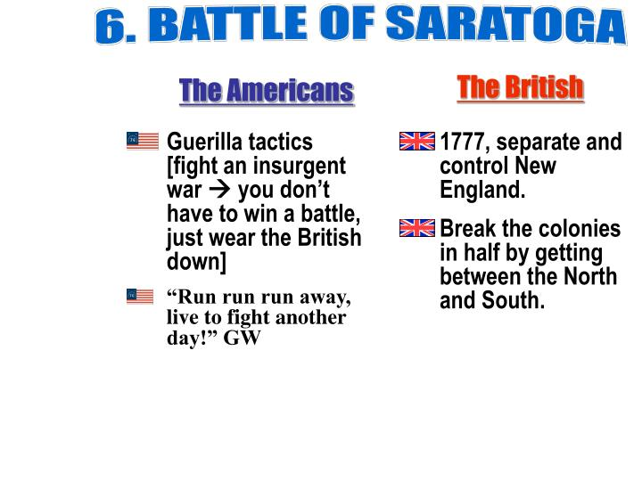 6. BATTLE OF SARATOGA
