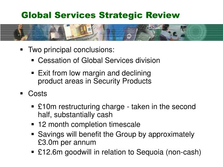 Global Services Strategic Review