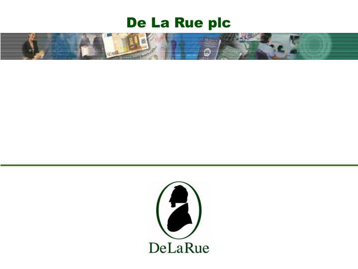 De La Rue plc