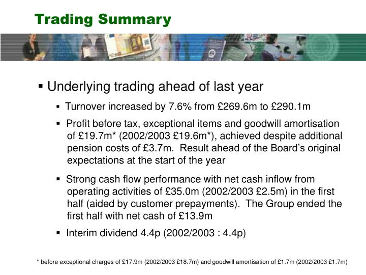 Trading Summary