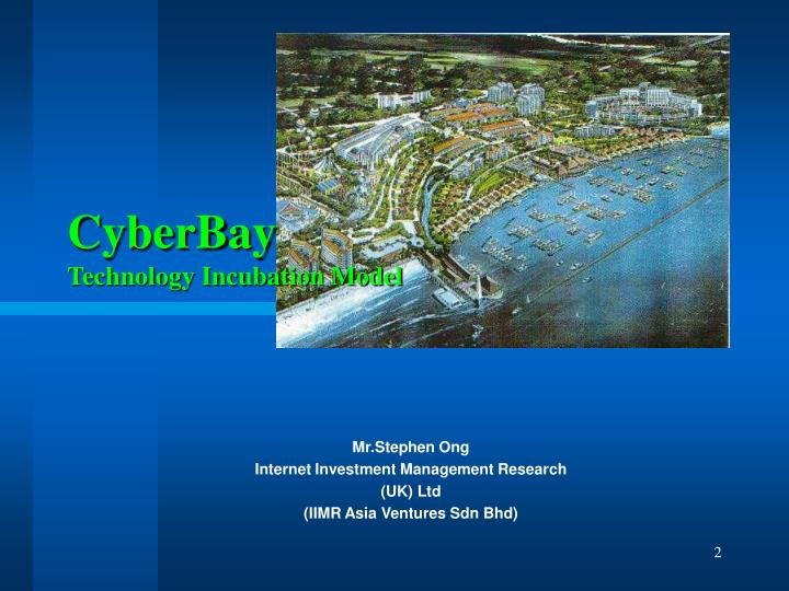 Cyberbay technology incubation model