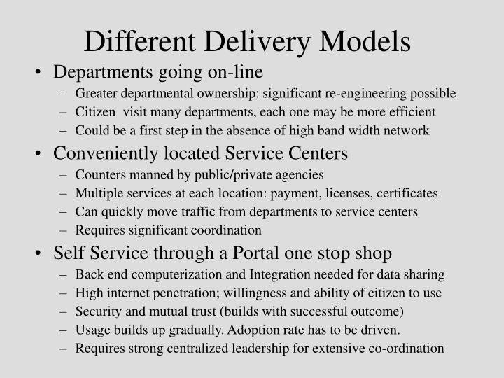 Different Delivery Models
