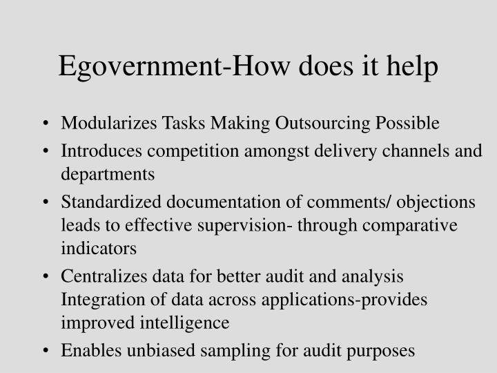 Egovernment-How does it help