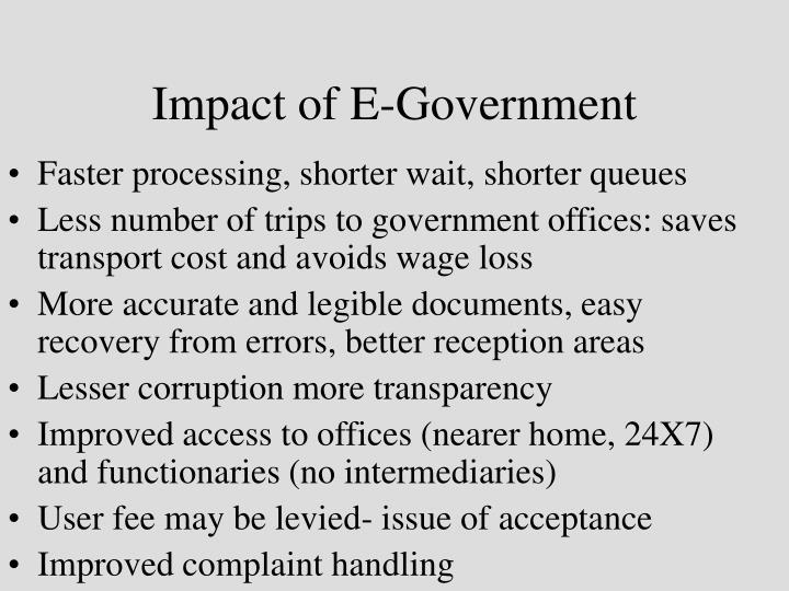 Impact of E-Government