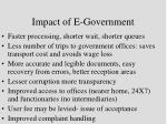 impact of e government
