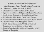 some successful e government applications from developing countries