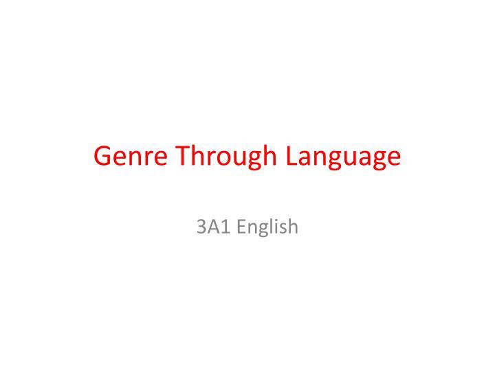 genre through language