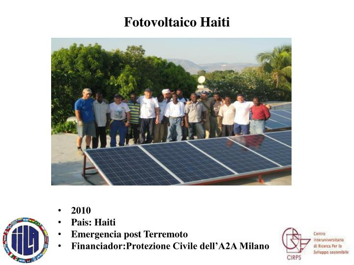 Fotovoltaico Haiti