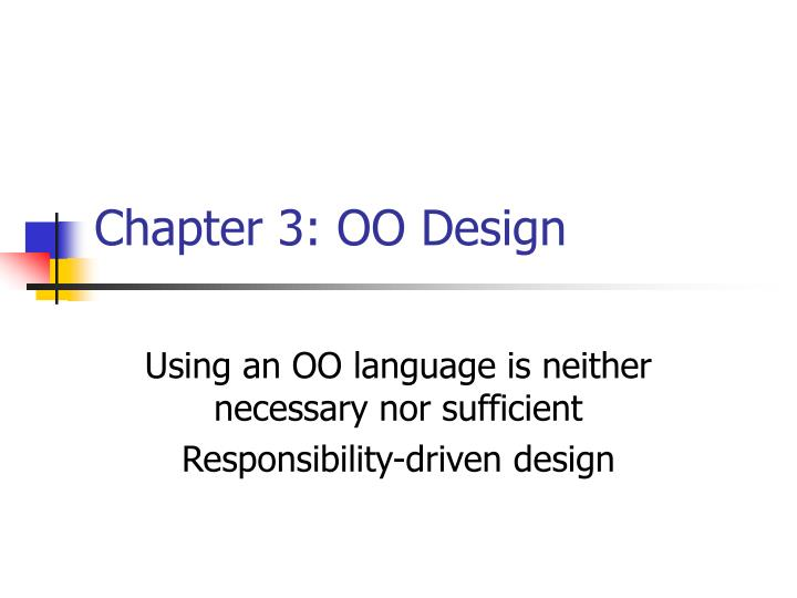 Chapter 3 oo design