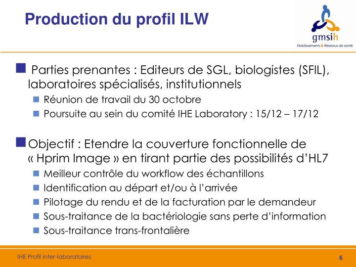 Production du profil ILW
