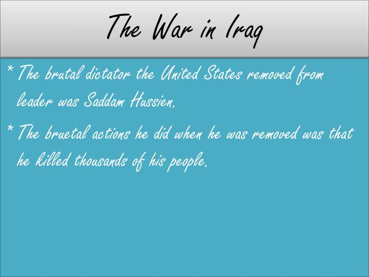 The War in Iraq