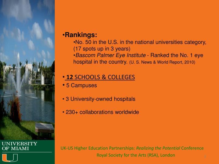 Rankings: