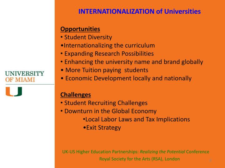 INTERNATIONALIZATION of Universities