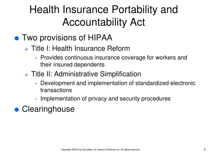 the health insurance portability and accountability Medical definition of hipaa hipaa: acronym that stands for the health insurance portability and accountability act , a us law designed to provide privacy standards to protect patients' medical records and other health information provided to health plans, doctors, hospitals and other health care providers.