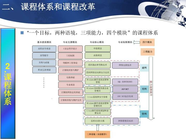 二、 课程体系和课程改革