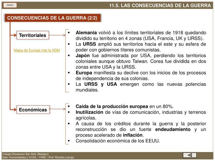 CONSECUENCIAS DE LA GUERRA (2/2)