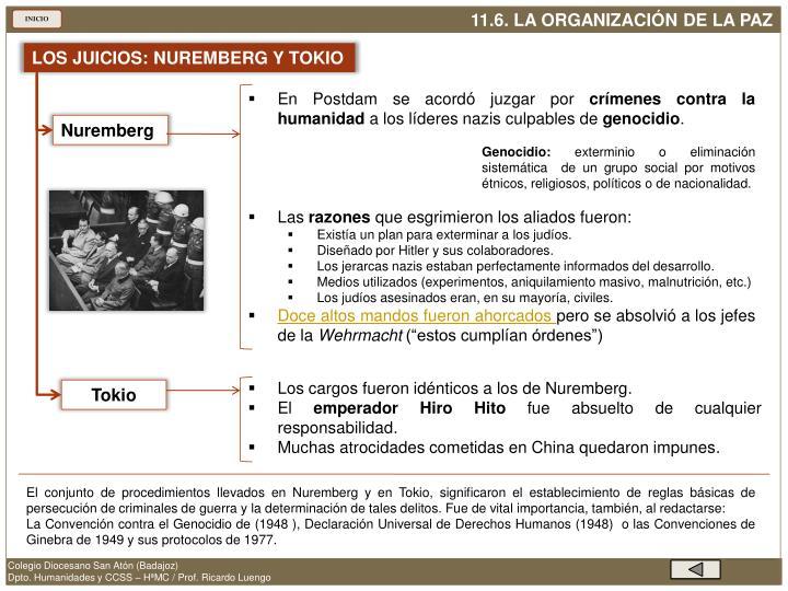 LOS JUICIOS: NUREMBERG Y TOKIO