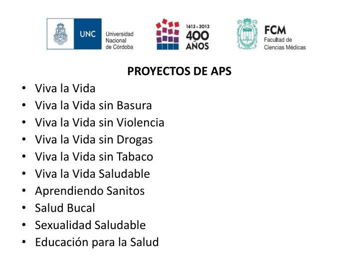 PROYECTOS DE APS