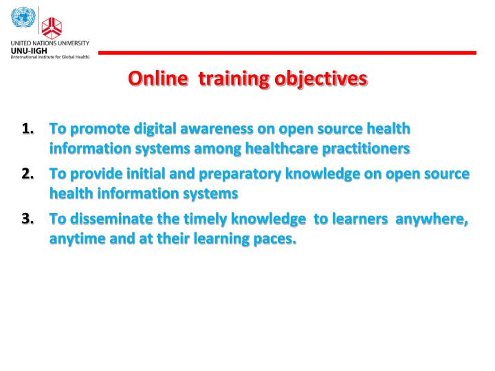 Online  training objectives