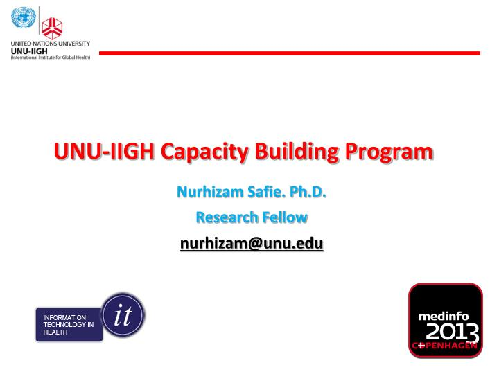 UNU-IIGH Capacity Building Program