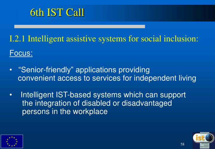 6th IST Call