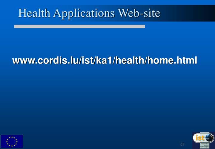 Health Applications Web-site
