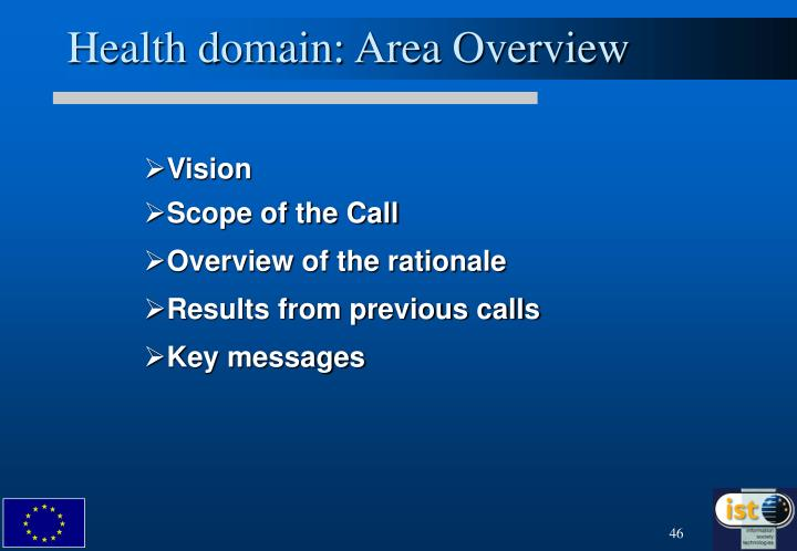 Health domain: Area Overview