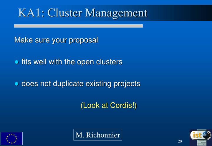 KA1: Cluster Management