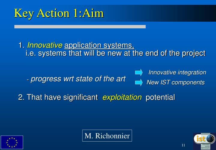 Key Action 1:Aim