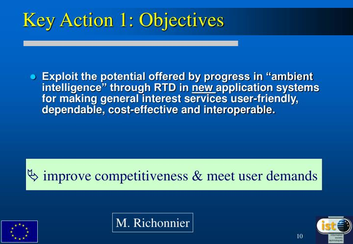 Key Action 1: Objectives