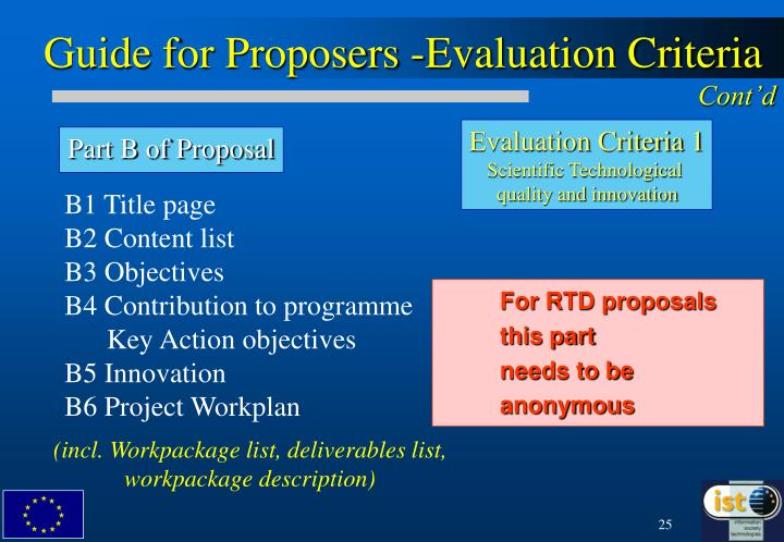 Guide for Proposers -Evaluation Criteria