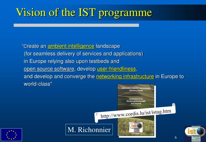 Vision of the IST programme