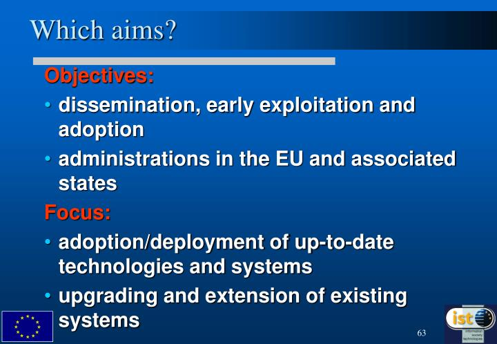 Which aims?