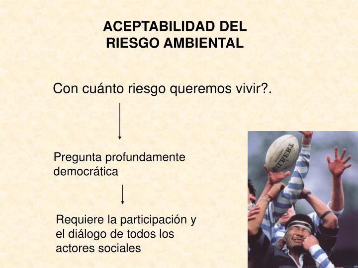 ACEPTABILIDAD DEL RIESGO AMBIENTAL