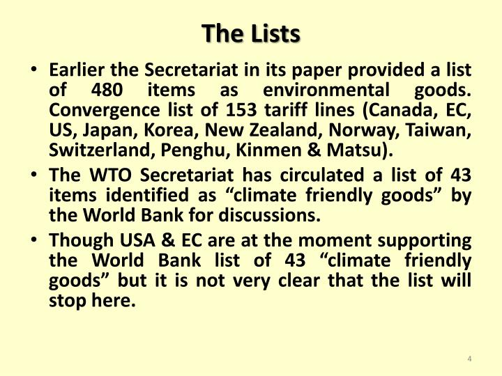 The Lists