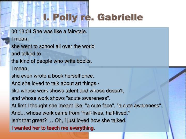 I. Polly re. Gabrielle