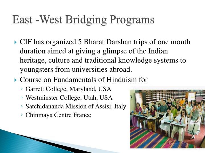 East -West Bridging Programs